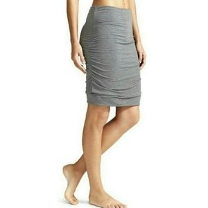 Athleta Solstice Gray Ruched Side Skirt  Size M